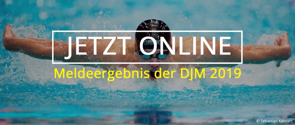 Meldeergebnis der DJM 2019 online